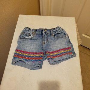 PEEK Dungaree Shorts Girls size 7